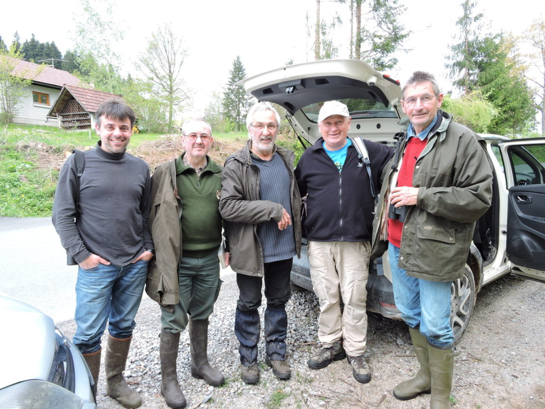 Philippe, Danijel, Christian, naš Branko Dolinar in še en Philippe - nadvse prijetna družba